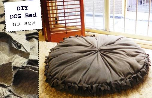 DIY Dog Bed – Super Easy NOSEW