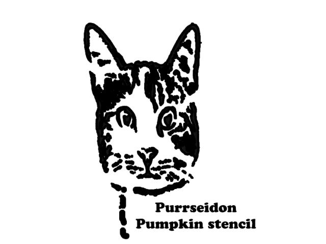 purr pumpkin stencil